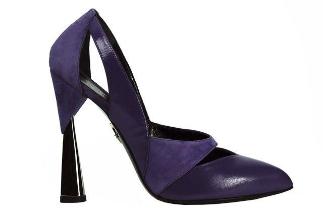 Tacones arquitectónicos en los zapatos de Luisa Tratzi