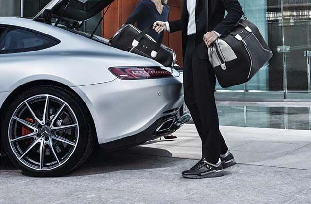 Colección de Zapatos y Bolsos Santoni X Mercedes-AMG