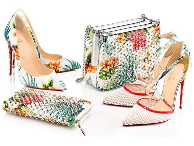 Zapatos de Christian Louboutin con estampados tropicales
