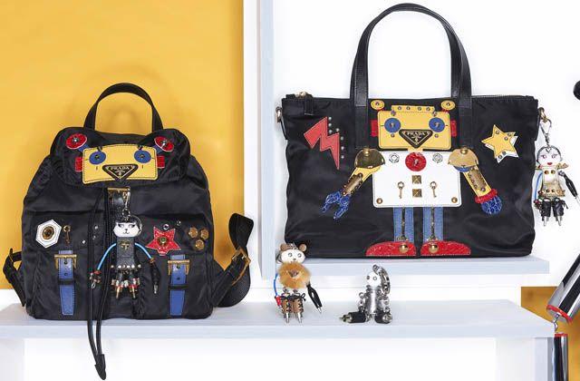 Colección Cápsula de bolsos Prada con formas de robots