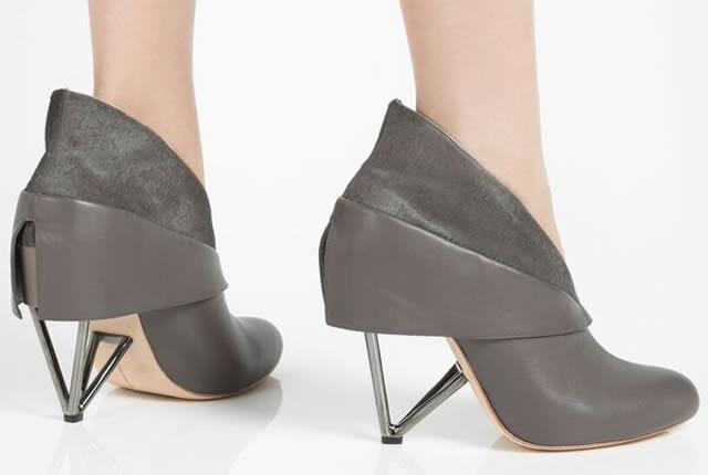 Zapatos con sofisticación arquitectónica de Abcense