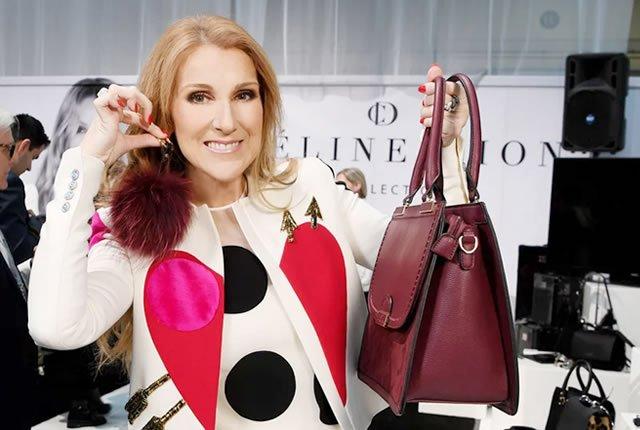 Céline Dion lanza colección de Bolsos