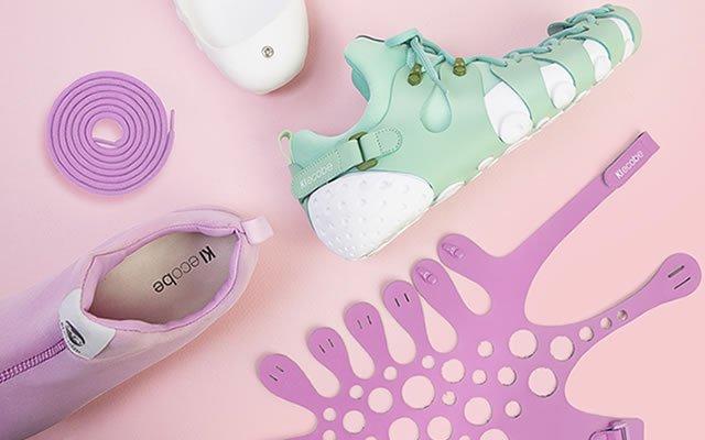 Zapatos modulares y auto-armables
