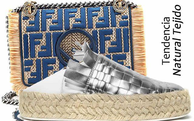Tendencia Natural tejido zapatos y bolsos