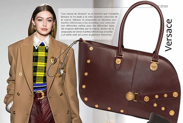 Bolsos y zapatos en colección Clanes de Versace