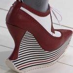 Plataformas con tacón en zapatos de Thom Browne