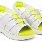 Blanco y neones en zapatos y bolsos de Hogan